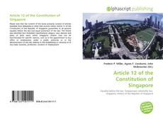 Capa do livro de Article 12 of the Constitution of Singapore