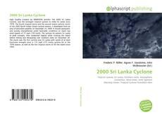Bookcover of 2000 Sri Lanka Cyclone
