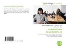 Copertina di Intérim (Droit Constitutionnel)