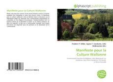 Обложка Manifeste pour la Culture Wallonne
