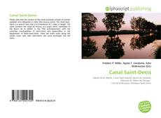 Bookcover of Canal Saint-Denis
