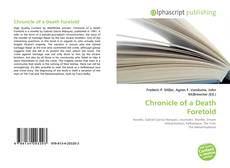 Buchcover von Chronicle of a Death Foretold