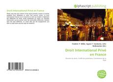 Bookcover of Droit International Privé en France
