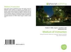 Bookcover of Medium of Instruction