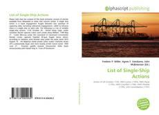 Buchcover von List of Single-Ship Actions