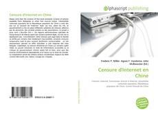 Capa do livro de Censure d'Internet en Chine
