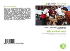 Borítókép a  Krishna Hariharan - hoz