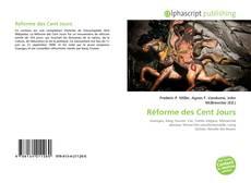 Portada del libro de Réforme des Cent Jours