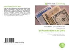 Bookcover of Edmund Backhouse (MP)