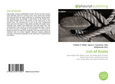 Bookcover of List of Knots