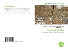Portada del libro de Lath and plaster