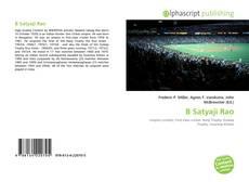 Bookcover of B Satyaji Rao