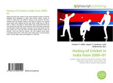 Buchcover von History of Cricket in India from 2000–01