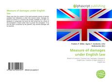 Bookcover of Measure of damages under English law