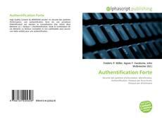 Couverture de Authentification Forte
