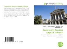 Bookcover of Community Services Appeals Tribunal