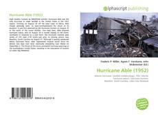 Обложка Hurricane Able (1952)