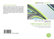 Bookcover of 1986 European Cup Final