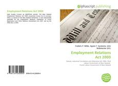 Bookcover of Employment Relations Act 2000