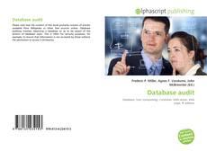Bookcover of Database audit