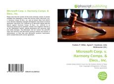 Bookcover of Microsoft Corp. v. Harmony Comps.