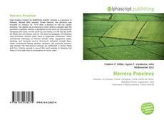 Обложка Herrera Province