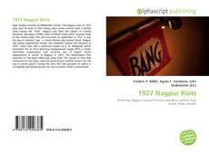 Portada del libro de 1927 Nagpur Riots