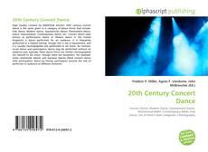 Couverture de 20th Century Concert Dance