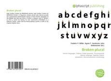 Bookcover of Broken plural