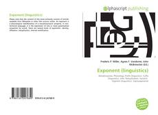 Bookcover of Exponent (linguistics)