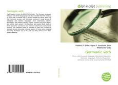 Bookcover of Germanic verb