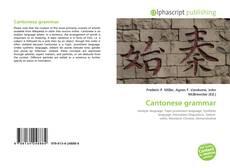 Buchcover von Cantonese grammar