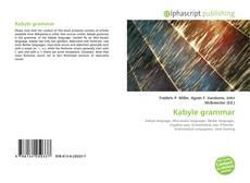 Bookcover of Kabyle grammar