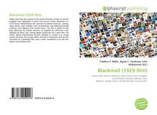 Bookcover of Blackmail (1929 film)