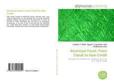 American Faust: From Condi to Neo-Condi的封面