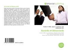 Accords et Désaccords kitap kapağı