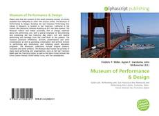 Copertina di Museum of Performance