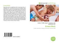 Bookcover of Ernest Bock