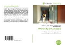 Bookcover of University of Cambodia