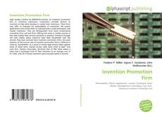 Bookcover of Invention Promotion Firm