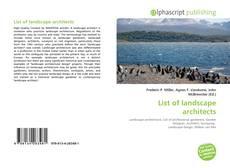 Capa do livro de List of landscape architects