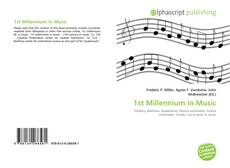 Bookcover of 1st Millennium in Music