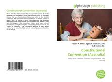 Bookcover of Constitutional Convention (Australia)
