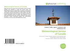 Bookcover of Meteorological Service of Canada