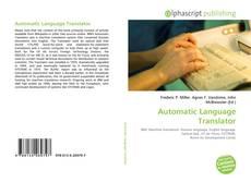 Portada del libro de Automatic Language Translator