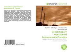 Bookcover of Geostationary Operational Environmental Satellite