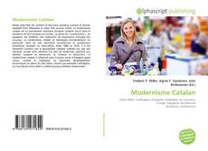 Portada del libro de Modernisme Catalan
