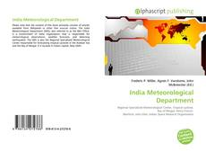 Bookcover of India Meteorological Department