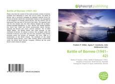 Bookcover of Battle of Borneo (1941–42)