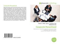 Bookcover of Corporate Personhood